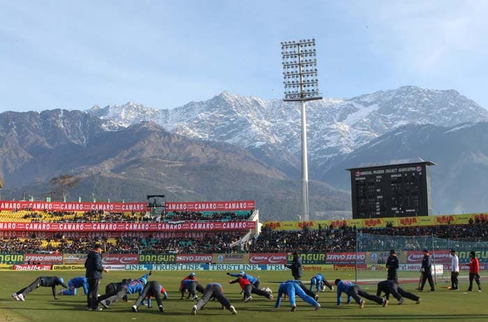 The scenic Himalayan mountains provided a majestic backdrop to the first-ever international cricket match in Dharamsala.<br><br> The final ODI of the series between India and England was however, claimed by the visitors. A look at some of the highlights from the match. (BCCI image)