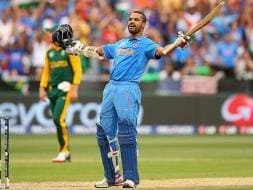 Photo : Deadly Dhawan Destroys South African Bowling