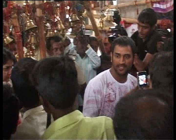 Dhoni arrived in Ranchi with his newly-wed wife after marriage on July 7 but he could not get time to visit the Deori temple. India had not performed well in test series too against Sri Lanka.