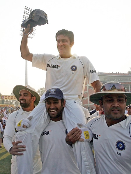 Dhoni took reins of the Indian Test side during the fourth and final Test against Australia at Nagpur in November 2008 when Anil Kumble announced his retirement.