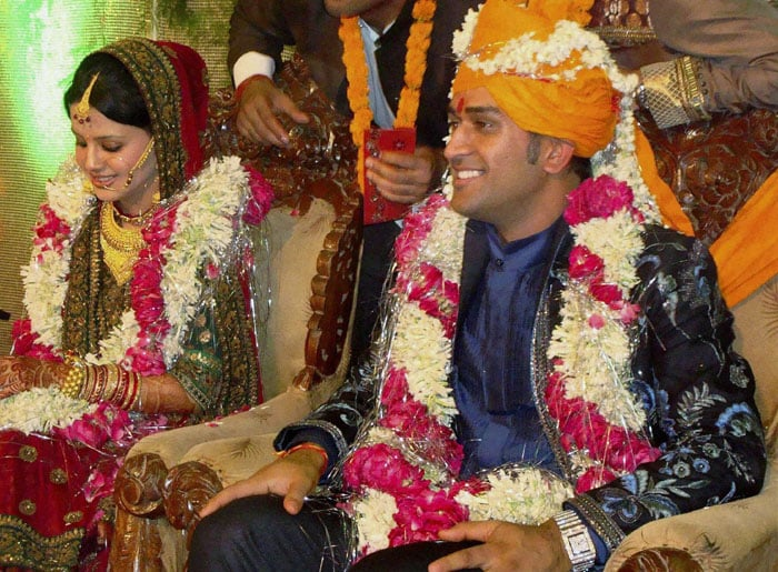 The couple were to host a reception in Mumbai on July 7, which also happened to be Dhoni's 29th birthday.