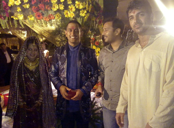 Indian cricket captain MS Dhoni tied the nuptial knot with Kolkata girl Sakshi Rawat on July 4 in a well-guarded resort in the foothills of the Himalayas. His friend and Bollywood actor John Abraham was also present.