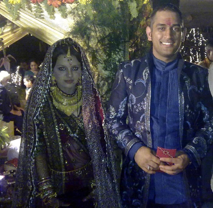Dhoni, one of India's most successful captains, got married just three days before his 29th birthday.