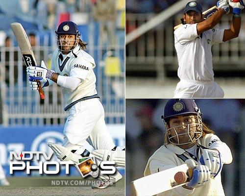 His Test debut came late in December 2005 and a patient 30 off 54 balls with six boundaries against Sri Lanka gave him a firm footing in the longer format of the sport. This after the first three day's of play had been washed out. He had replaced Dinesh Karthik in the side.
