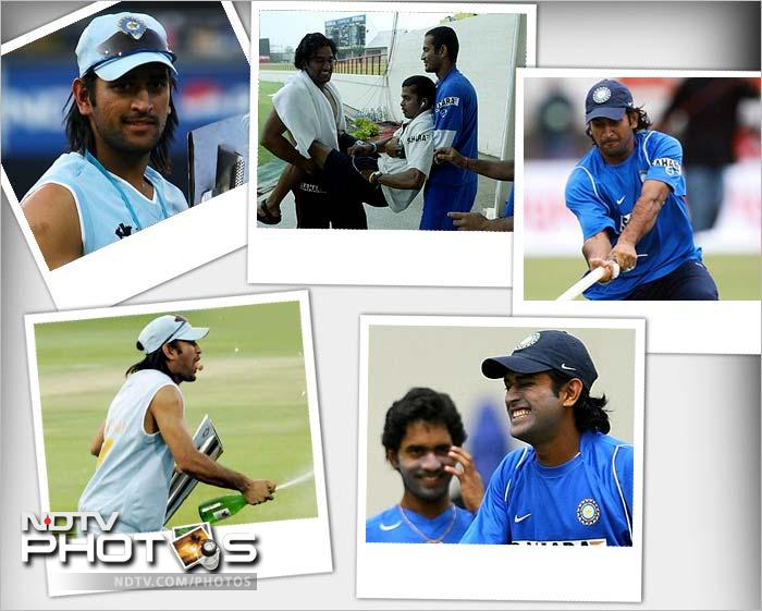 There was no doubt though about his prowess as a player and he was chosen to lead the national side in the T20 World Cup (2007). The Indian team under him prevailed, took the trophy and announced it's presence as world-powers. Dhoni was later give ODI and Test captaincy as well.