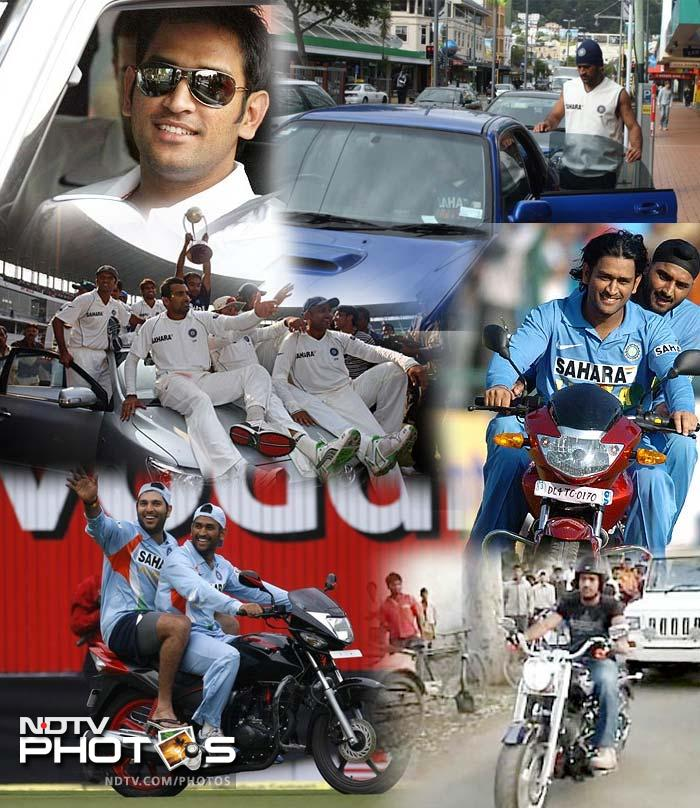 The speed at which he has risen in fame has everything to do with his skills and nothing at all with his passion for speed itself. Dhoni has a garage full of cars and bikes with a Hummer H2 being his most talked-about possession.