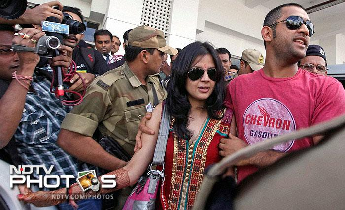 Expectantly, the couple always had a large mob of followers behind them wherever they went. And for Dhoni, so did success.