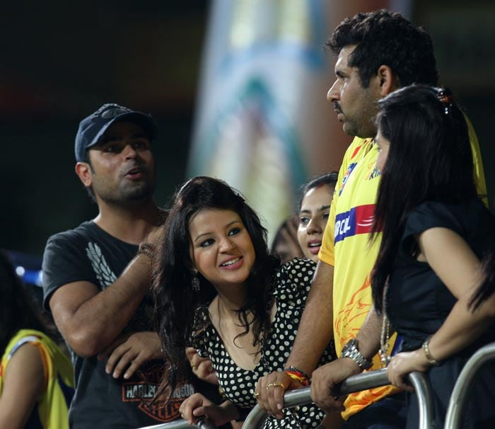 Indian cricket's most talked about WAG, Sakshi Dhoni was present once again to support MS Dhoni's men against Trinidad and Tobago. This time however, she could not prove to be the lucky charm as the Chennai Super Kings were handed their second defeat of the Champions League T20 tournament.