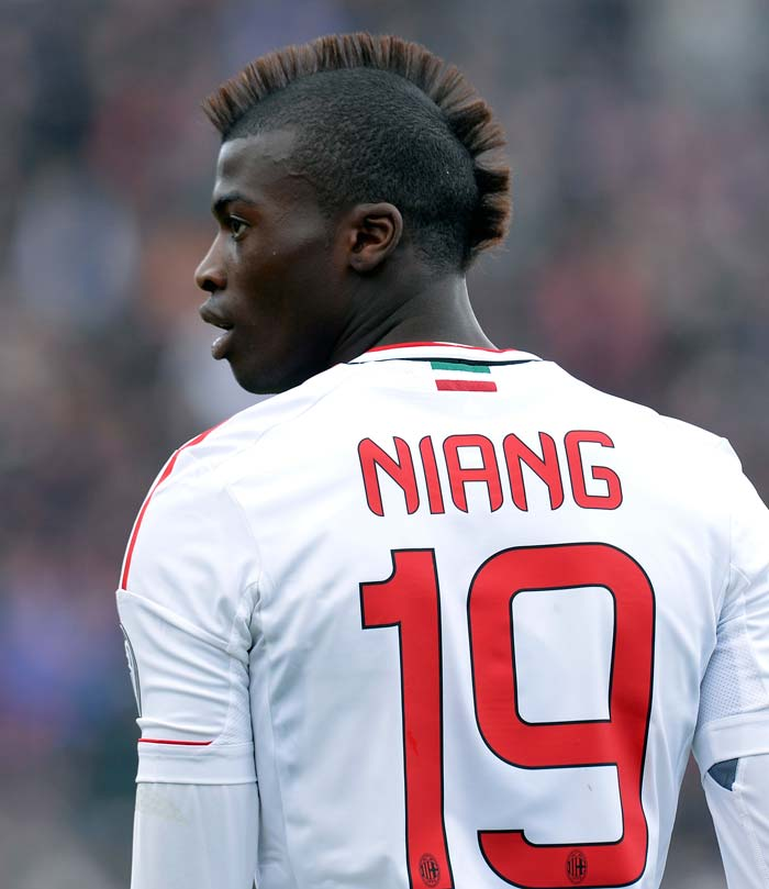 It seems AC Milan strikers have a thing for Mohawks! M'Baye Niang makes it a troika of 'over-the-top' hair at the San Siro.