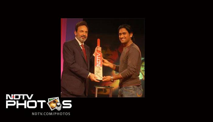 After he led India to the T20 World Cup win in 2007, he was presented with NDTV Indian of the Year award.