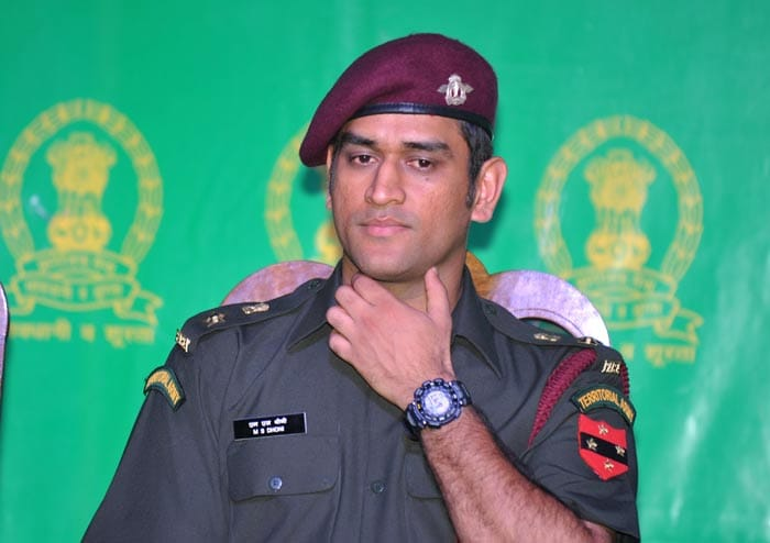 MS Dhoni was presented with an honourary rank of Lt. Colonel in the Indian Army on Tuesday, November 1.