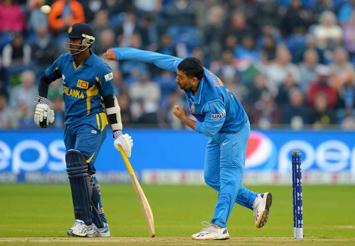Dhoni bowled for only the second time in his ODI career. His previous was at the 2009 edition of the Champions Trophy, when he finished with figures of 1/14 in two overs - claiming the wicket of Travis Dowlin.