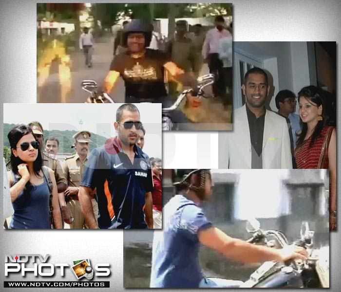 In the couple's time out from cricket, Sakshi Dhoni entered the world of advertisements as the she featured in a motorbike commercial alongside Captain Cool.