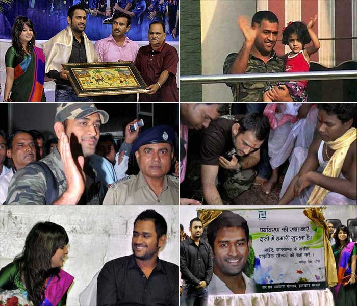 Indian cricket captain MS Dhoni has been known to make the most out of his time off cricket. Here's a look at his activities off the field.