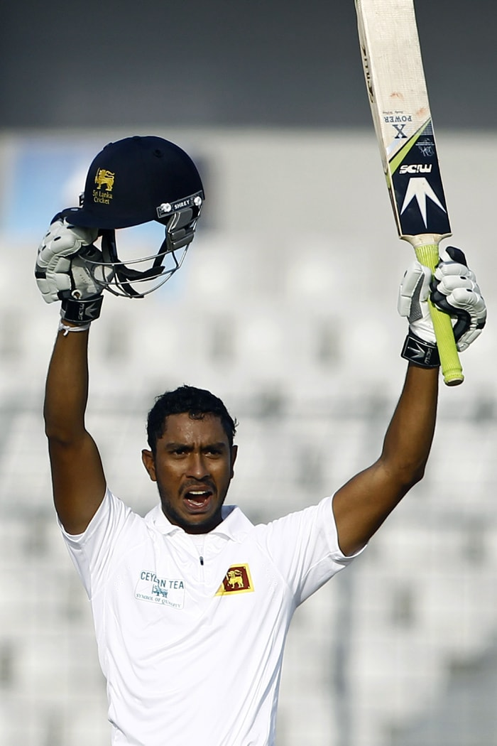 Kithuruwan Vithanage, the left-handed middle order batsman, too scored his maiden ton, batting at number eight. Vithanage hammered 103 not out from 104 balls as Sri Lanka declared at 730 for 6 in their first innings with a 498-run lead.