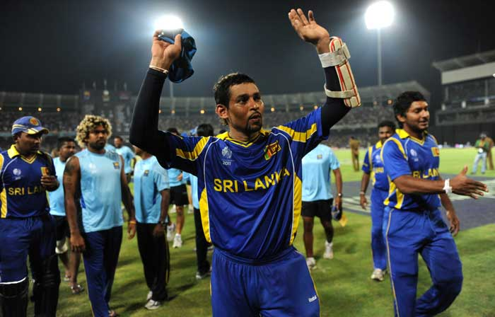 Opening the innings for Sri Lanka, Dilshan made sure he did his job with perfection and not leave the job for the batters to follow. With opening partner Upul Tharanga, Dilshan added 800 runs for the first wicket in nine matches. (AFP Photo)