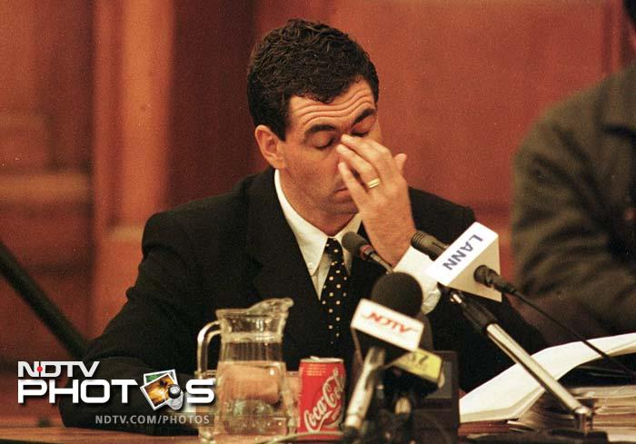 <b>Hansie Cronje:</b>A decade ago, South Africa skipper Hansie Cronje was accused by the Delhi police and some of his fellow players of having fixed matches. Overnight, Cronje went from being Captain Incredible to the most villainous figure in contemporary cricket. He was later banned and his appeal was turned down. Cronje met with a tragic end two years later when a plane he was traveling in crashed. Theories have been put forth since but the official verdict is that the pilots made an error which led to the crash.