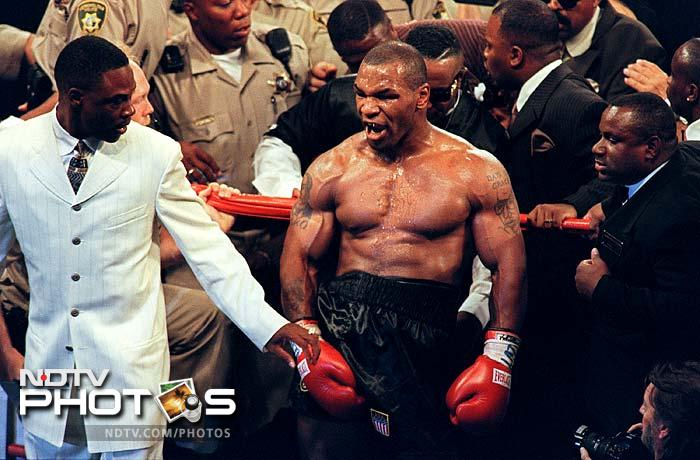 <b>Mike Tyson:</b>Alleged rape and proven anger have threatened to down Mike Tyson's career. The former heavyweight champion, Tyson has done jail terms but his most remembered controversy was when he bit both ears off Evander Holyfield during a match.