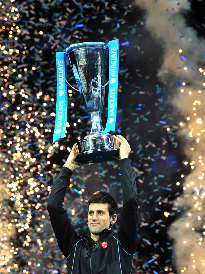 Novak Djokovic capped off a phenomenal autumn by defending his ATP World Tour Finals title with an impressive 6-3, 6-4 win over Rafael Nadal. <br><br>All images courtesy: AFP