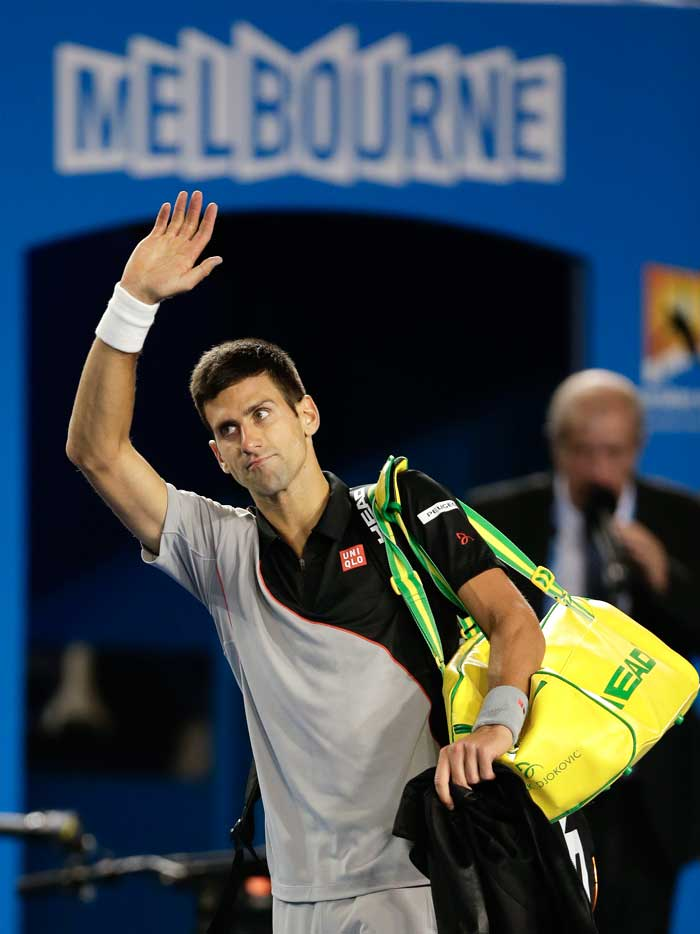 Djokovic has dominated recent Australian Opens, winning it four times altogether, and was on an unbeaten 25-match run at Melbourne Park before Wawrinka's stunning victory. The Serb, who went out in the quarters in his first tournament working with new coach Boris Becker, paid tribute to Wawrinka and reflected on his previous success at the Australian Open.