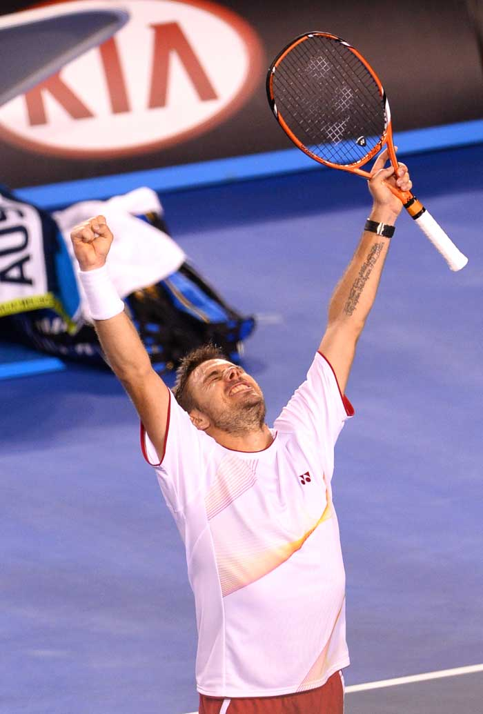 At 8-7 in the final set, Wawrinka clinched the major points to earn himself a match point against Djokovic's serve. He did not let go of that opportunity and sealed the quarterfinal 2-6 6-4 6-2 3-6 9-7.
