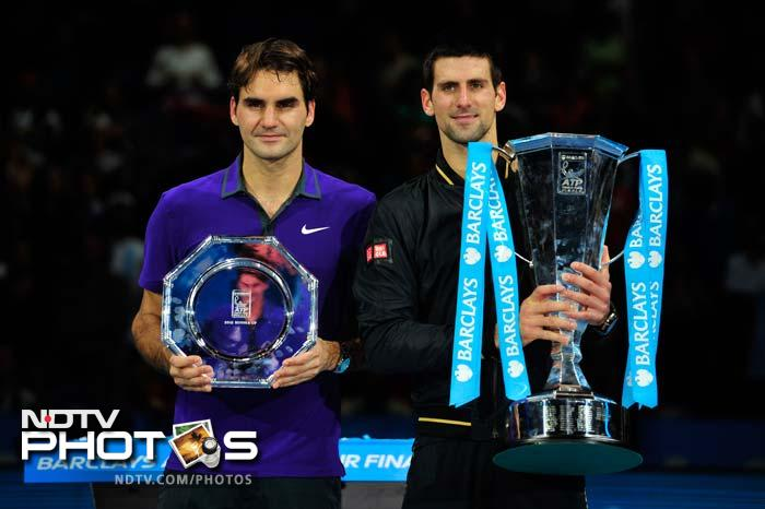 """""""It's always a privilege and a challenge to play Roger,"""" Djokovic said. """"I want to thank my team, I couldn't have done it without you. I love you!""""<br><br> """"Congratulations to Novak on an amazing tournament and an amazing year, You are the best. It has been an amazing year for me too,"""" Federer said."""