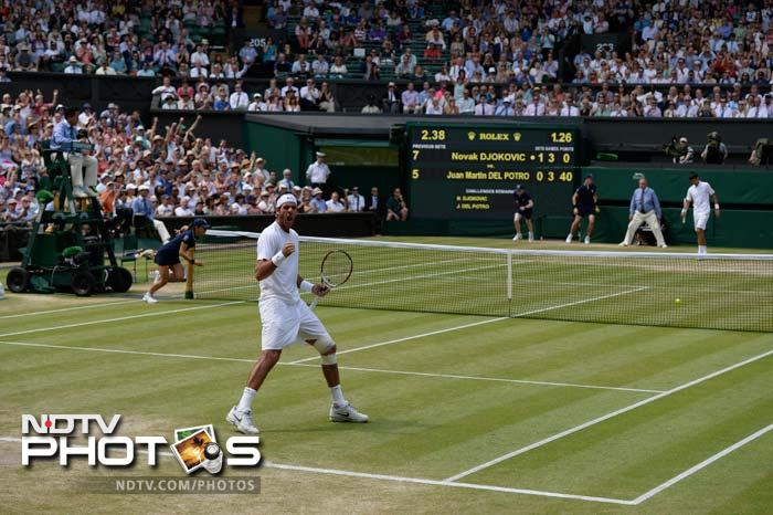 Del Potro, who had defeated the Serb for the Olympic bronze medal at Wimbledon last year, matched Djokovic blow for blow in the first set but had to bat back a break point in the sixth game to stay on level terms.<br> At 6-5, Djokovic stepped it up, a backhand from off his toes landing in the corner before a backhand off-balance from the Argentine sailed long.
