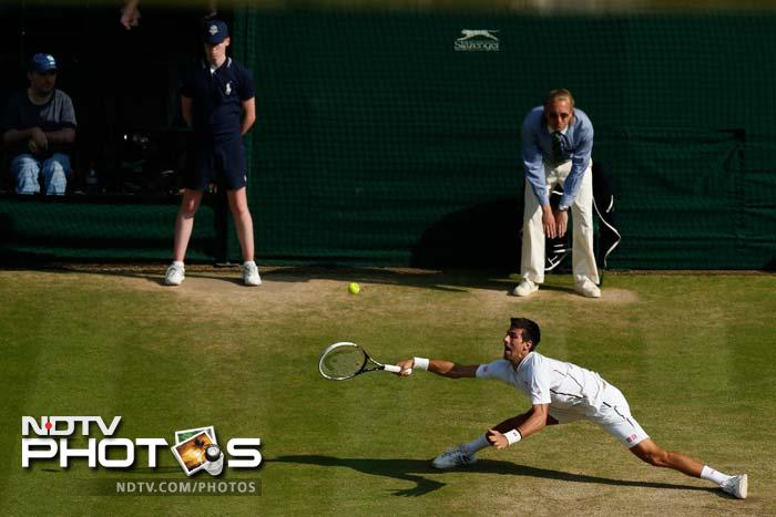 In the decider, Djokovic fought off a break point in the fifth game before Del Potro saved one in the sixth.