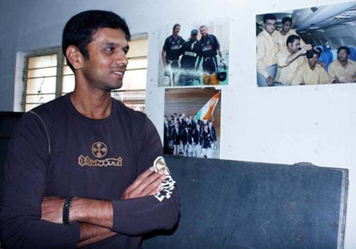 Although busy cracking runs, Dravid also attended St. Joseph's College of Commerce in Bangalore.