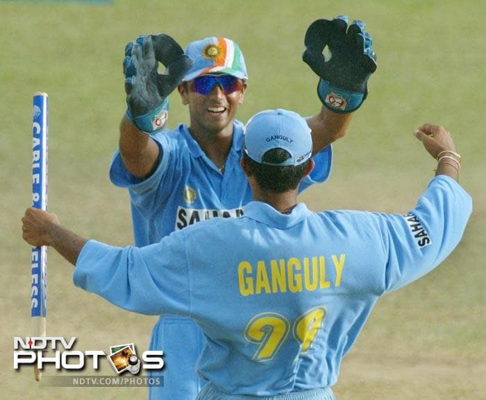 Doubling up as a wicketkeeper and batsman, he was part of Sourav Ganguly's regime that led to the resurrection of Indian cricket in the 2003 World Cup. Dravid top-scored in the crucial win against England and struck unbeaten knocks to guide India home against Pakistan and New Zealand. He finished with 318 runs, 15 catches and a stumping.