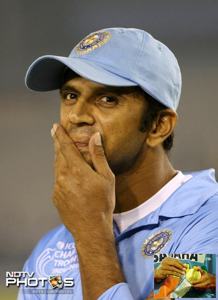 """In January 2004, Rahul Dravid was found guilty of ball-tampering during an ODI against Zimbabwe at Brisbane. TV cameras caught him rubbing a cough lozenge on the shiny side of the ball. The incident was reported to match referee Clive Lloyd, and he was fined 50 per cent of his match fee. Later, India coach John Wright defended Dravid, stating that """"It was an innocent mistake""""."""