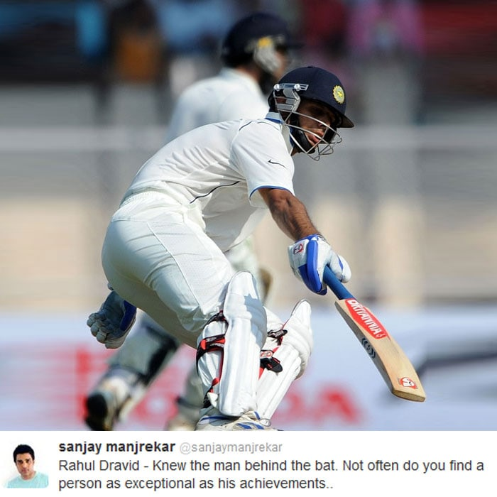 Sanjay Manjrekar's personality truly described the personality of Rahul Dravid.
