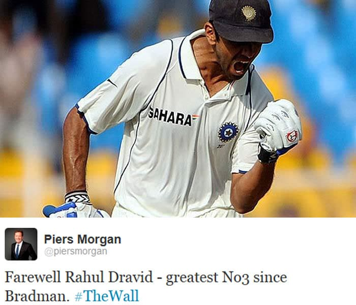 Popular journalist Piers Morgan placed Dravid next to the greatest player of all time; Sir Donald Bradman.