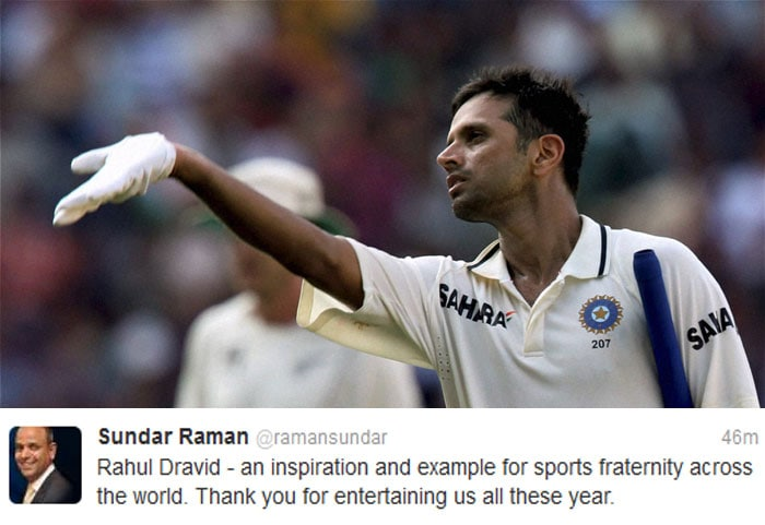CEO of the Indian Premier League Sundar Raman tweeted for the legend.