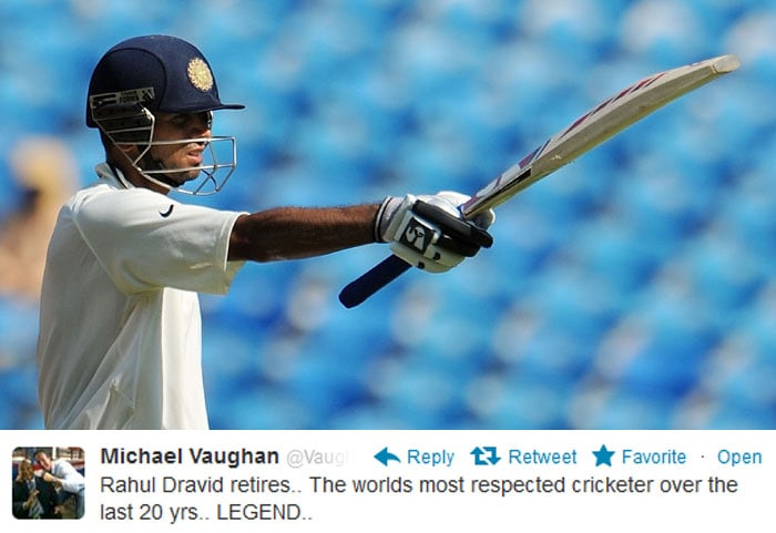 Despite heavy criticism for Team India in general in the recent past, former England captain Michael Vaughan had all the respect for Rahul Dravid.