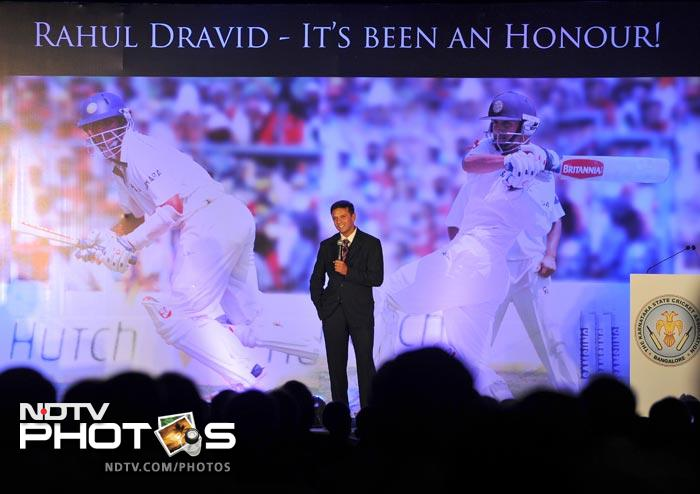India's Wall Rahul Dravid, who announced his retirement from international cricket on March 9, was felicitated by the Karnataka State Cricket Association in Bangalore on 21st March 2012. This was a tribute to his sixteen years of service to the Indian Cricket and his achievements.
