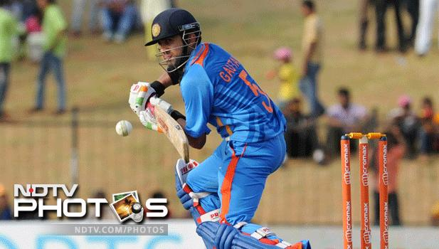 While wickets tumbled at the other end, Gautam Gmabhir played a lone hand as India folded up for just 138 runs. He scored 65 runs and was the last to be dismissed, almost carrying his bat through the innings.