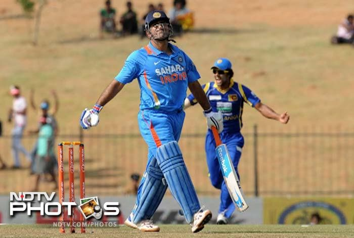Skipper MS Dhoni failed to lead by example and India had lost half their side for just sixty runs on the board in the fifteenth over.