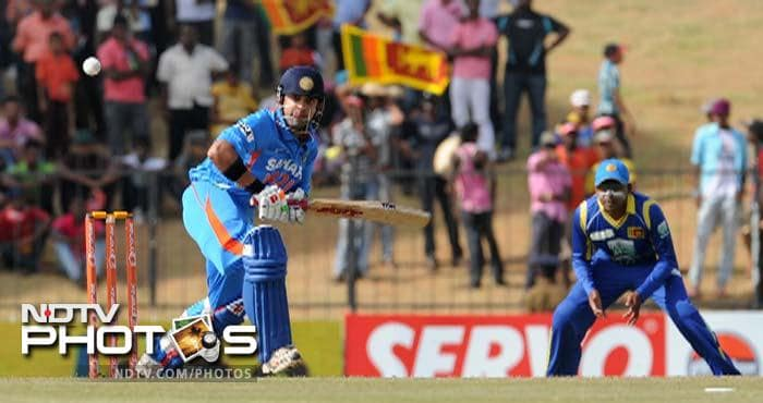 Suresh Raina looked all at sea against a disciplined bowling attack by Sri Lanka and his dismissal left India tottering at 41/4.