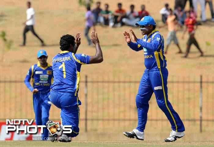 Perera was on song and snared three wickets of India's top order which pushed the tourists onto the backfoot.
