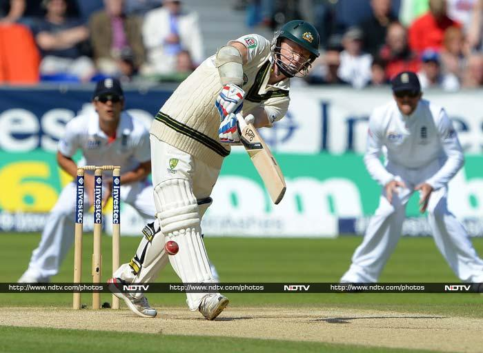Chris Rogers' 49 gave Warner good support as they added 109 for the first wicket.