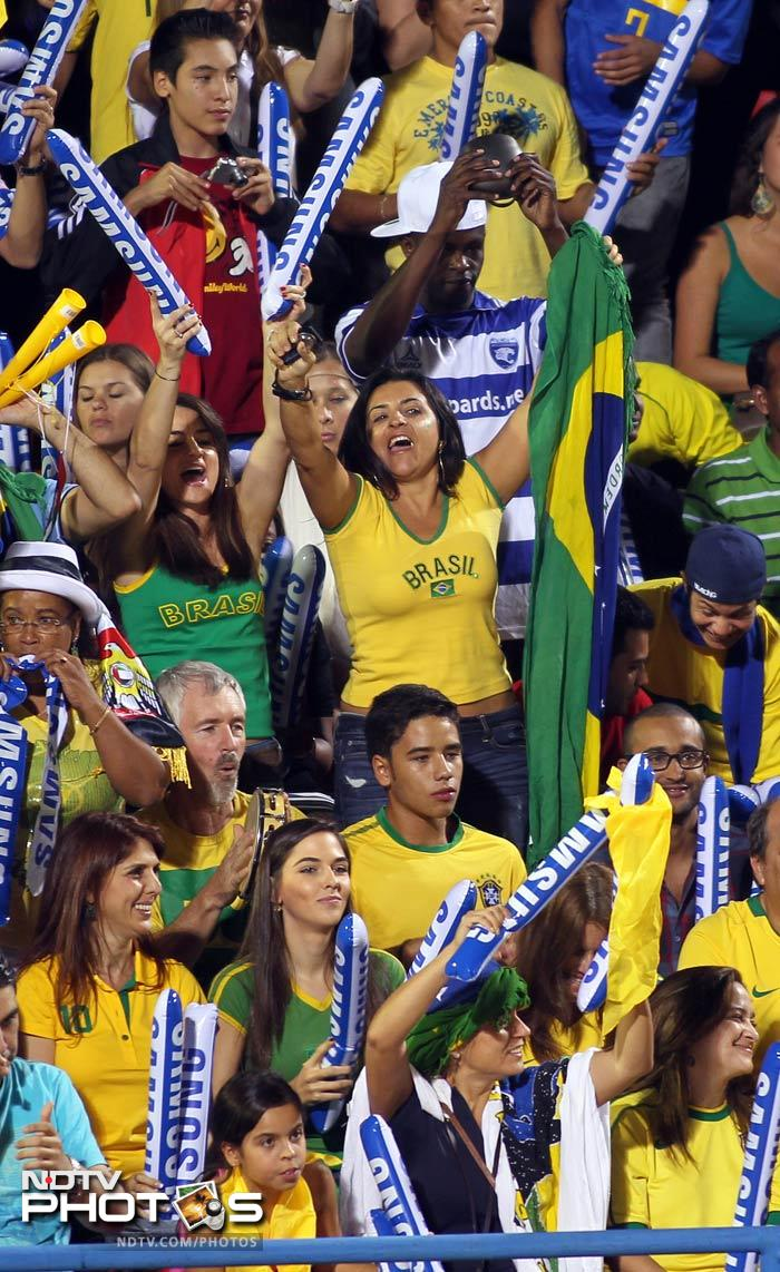 Brazil fans are known to be passionate about their team and Dubai got a first-hand taste of the samba culture.