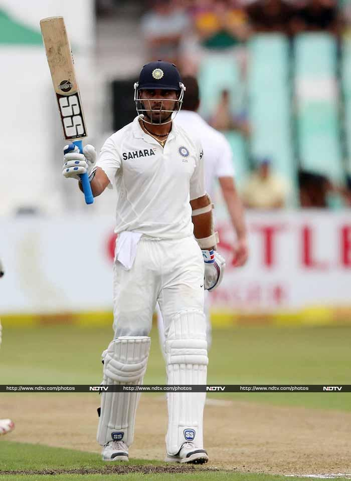 Vijay was the first to complete his fifty, followed closely by his partner. Both batsmen continued to make South African bowlers toil till match was eventually called off for the day - in the final session - due to bad light.<br><br>India will resume on 181/1 with Vijay on 91 and Pujara on 58.