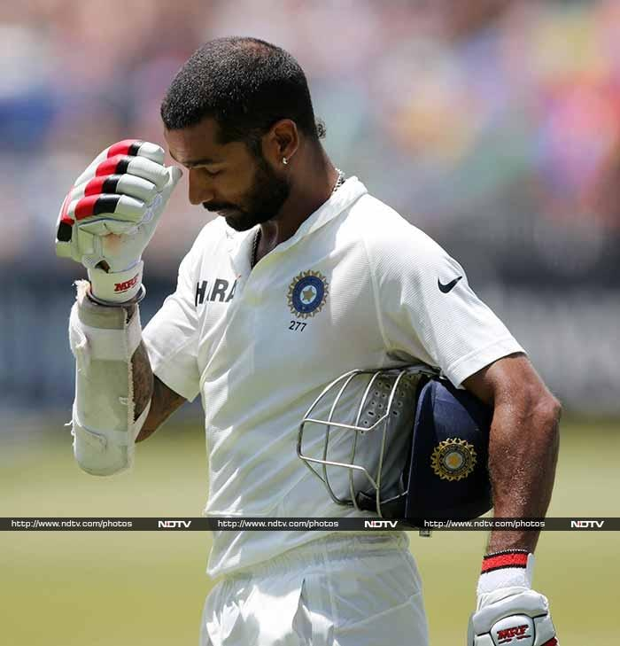 Dhawan's disappointment at his rash shot was clearly evident.