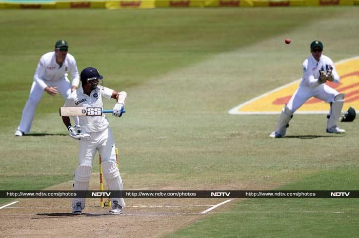 Vijay was stopped soon after - three short of what would have been a solid century. Steyn was looking ominous but more damage was yet to come for India.
