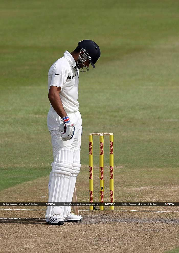 Kohli though fell victim to Morne Morkel - the agony clearly visible on his face. Skipper MS Dhoni came to the middle and hit 24 before he too fell victim to Steyn.