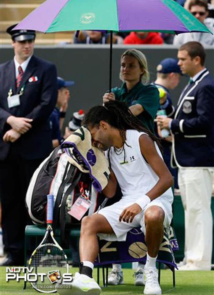 In the first round, Dustin Brown defeated world number 79 Guillermo Garcia-Lopez in three sets. The dread-locked player had never won a match at Wimbledon before this year.