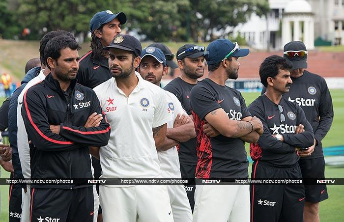 Indian players are clearly dejected, a clear contrast to the smiling faces of the Kiwis. But at the end of the day, they were outplayed in every department of the game.