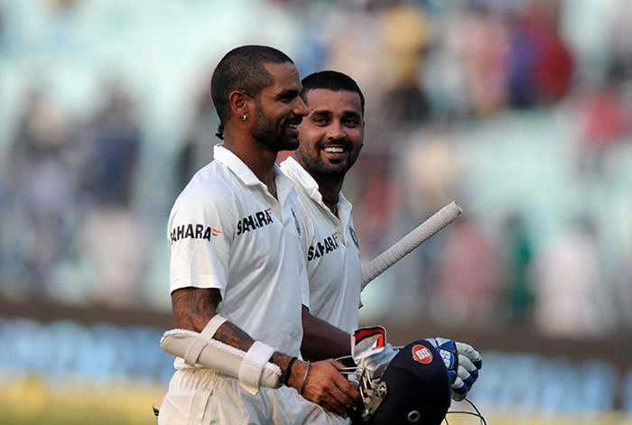Shikhar Dhawan and Murali Vijay went into stumps unscathed as India were 37 for no loss, replying to West Indies' 234 all out. Image courtesy: BCCI