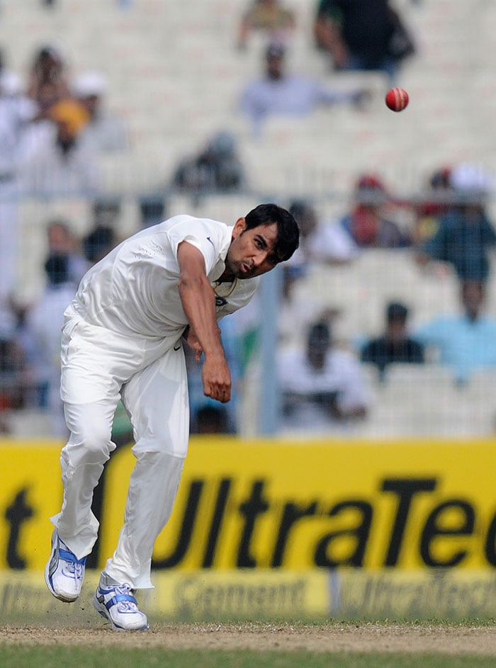 Mohd Shami, the Bengal pacer, took his first wicket when he got rid of opener Kieran Powell. Shami was generating pace and was the first Indian seamer to get reverse swing. Image courtesy: BCCI
